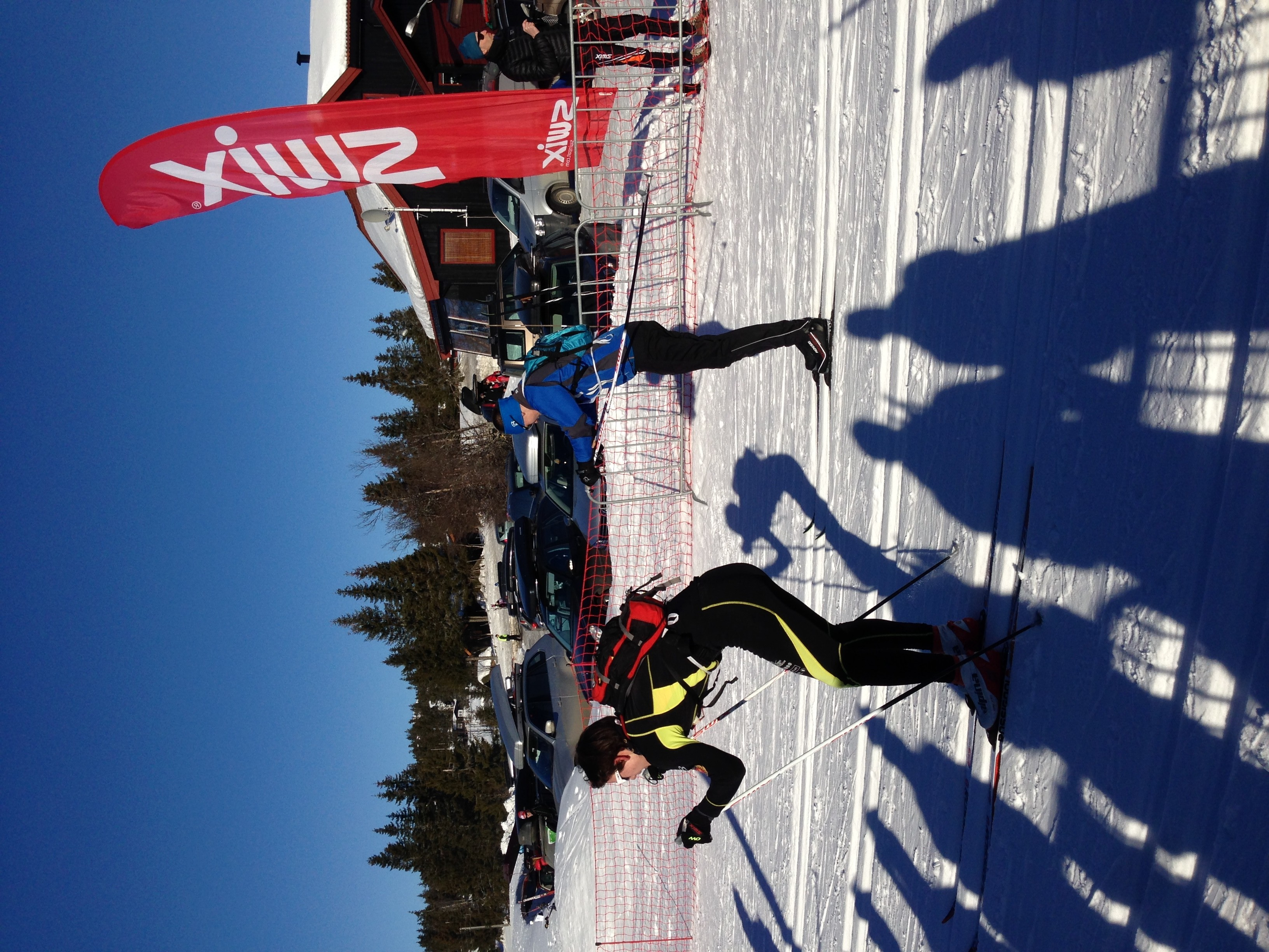 William passerer etter 1,5 km